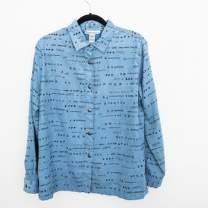 90's Long Sleeve Blouse with Pattern M
